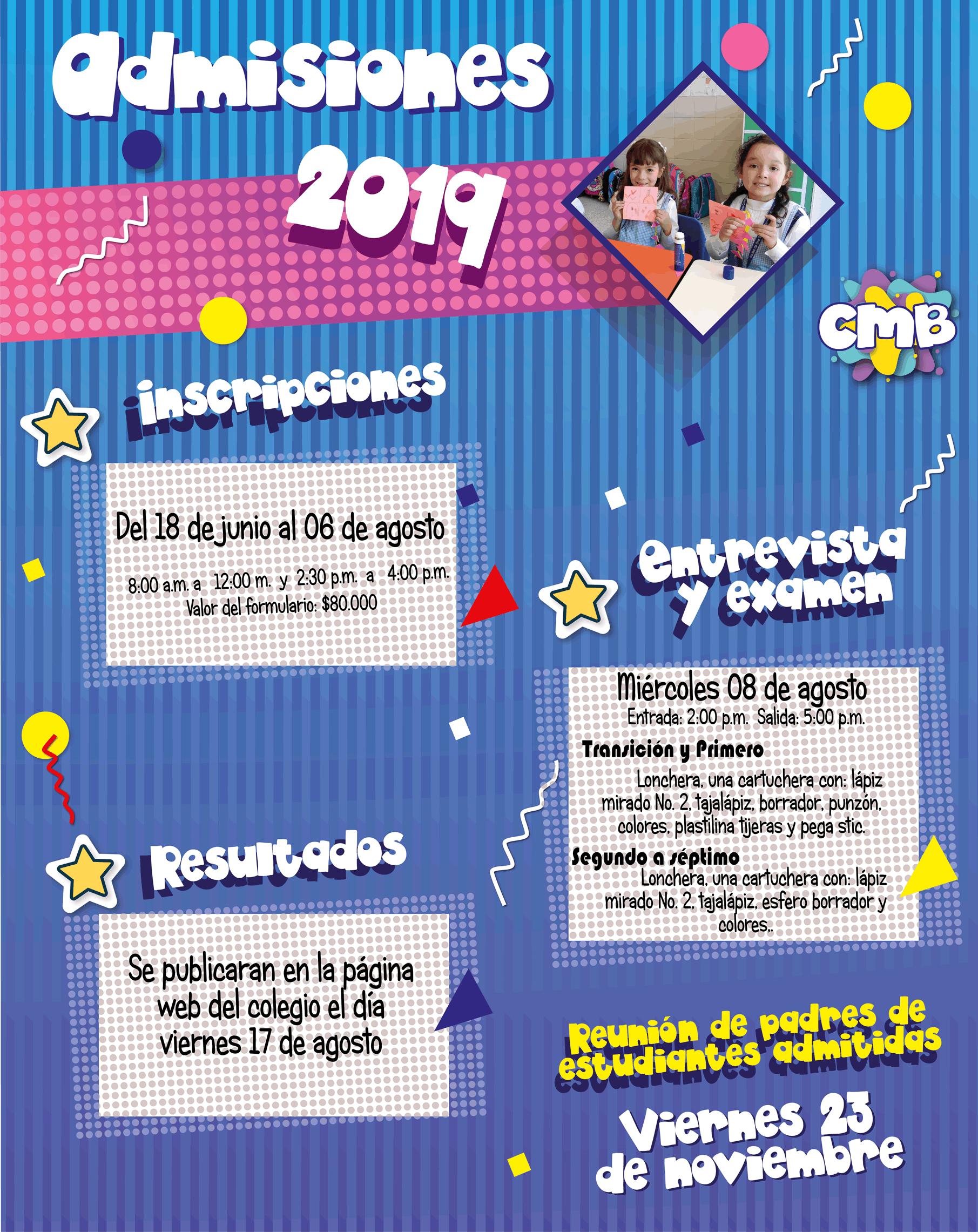 admisiones 2019